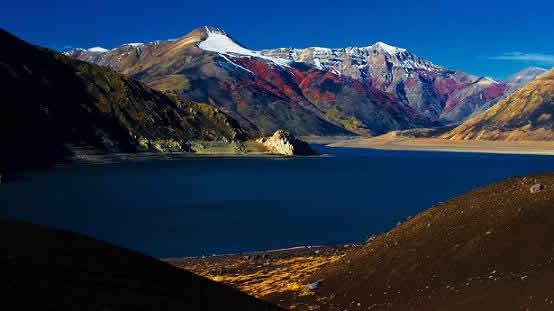 Ruta : Laguna del Laja y a Argentina por paso Pichachén