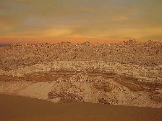 Valle Luna Cordillera de Domeyco