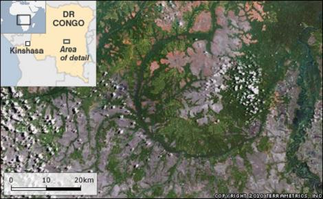 crater en el congo