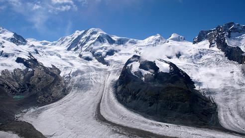 glaciares de los Alpes