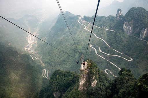 Zhangjiajie y el ascensor para valientes